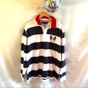 Tommy Hilfiger Sailing Polo Rugby Shirt Striped